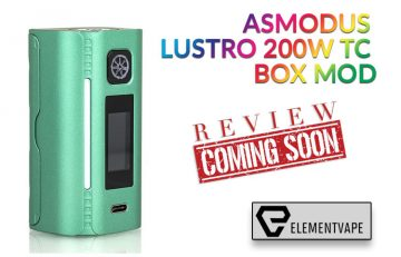 The Intriguing AsMODus Lustro 200W Touchscreen Mod Preview by Spinfuel VAPE