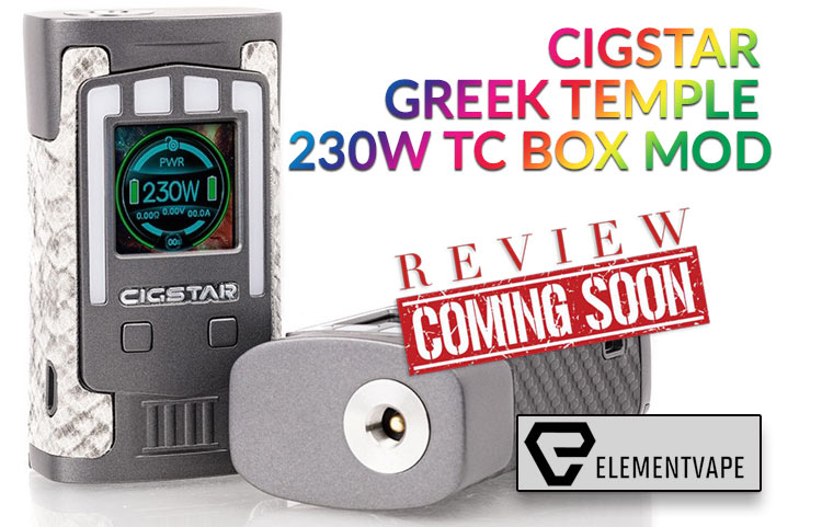 The Mythical Cigstar Greek Temple 230W Box Mod Preview by Spinfuel VAPE