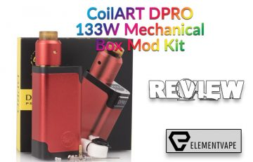 CoilART DPRO 133W Mechanical Box Mod Kit Review