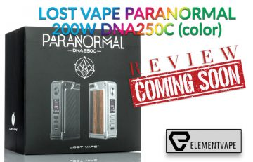 Lost Vape Paranormal 200W DNA250C Box Mod Preview – Spinfuel VAPE