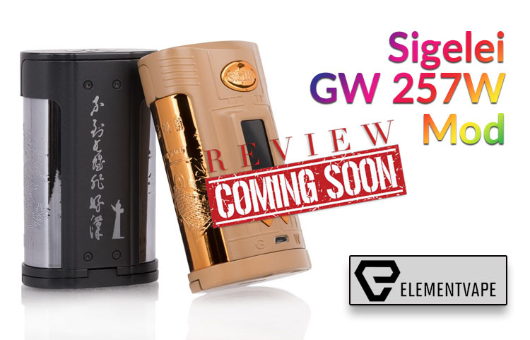 The Historically Inspired Sigelei GW 257W Mod Preview