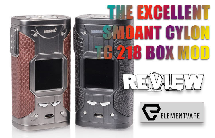 Smoant Cylon TC 218 Box Mod Review – SPINFUEL VAPE