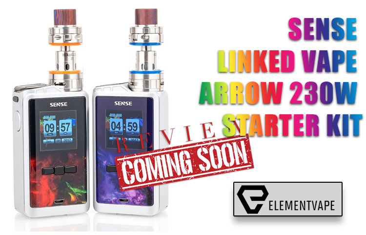Sense Linked Vape Arrow 230W Starter Kit Preview by Spinfuel VAPE