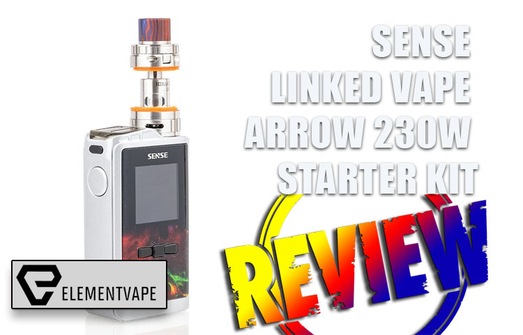 Sense Linked Vape Arrow Mod Kit Review by Spinfuel VAPE