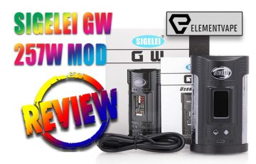Sigelei GW 257W TC Box Mod Review by Spinfuel VAPE