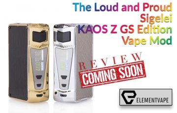 The Loud and Proud Sigelei KAOS Z GS Edition Vape Mod Preview