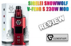Sigelei SnowWolf V-Feng S 230W Mod Review by Spinfuel VAPE