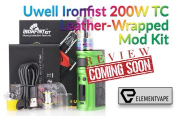 The Uwell Ironfist 200W TC Leather-Wrapped Mod Kit Preview by Spinfuel VAPE