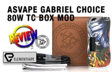 ASVAPE GABRIEL CHOICE 80W TC BOX MOD FULL REVIEW by Spinfuel VAPE