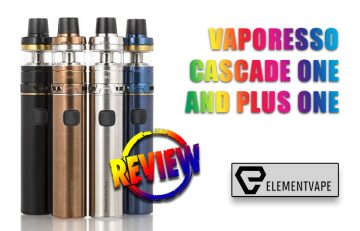 VAPORESSO CASCADE ONE / ONE PLUS STARTER KIT Review by Spinfuel VAPE