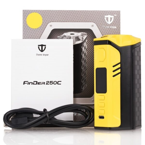 think_vape_finder_dna250c_300w_box_mod_packaging_content