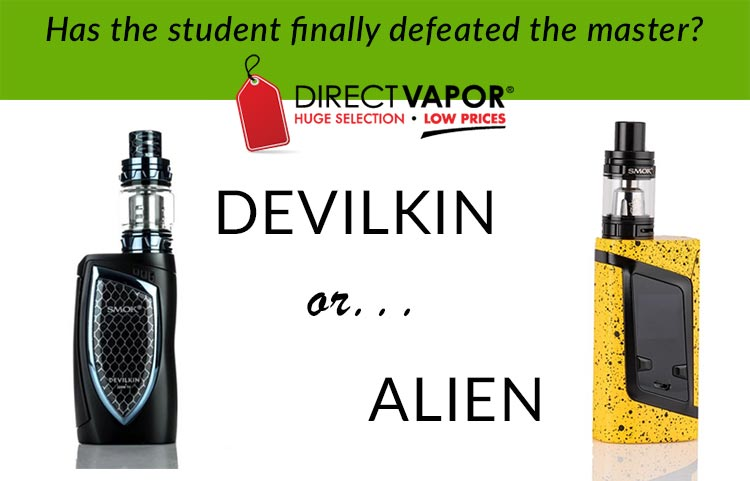 SMOK DEVILKIN VS SMOK ALIEN - A SPINFUEL VAPE SHOOTOUT REVIEW