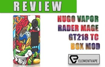 HUGO VAPOR RADER MAGE GT218 TC BOX MOD REVIEW