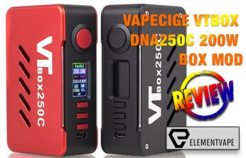 Vapecige VTBox DNA250C 200W Box Mod Review