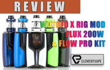 WOTOFO X RIG MOD FLUX 200W & FLOW PRO KIT Review by Spinfuel VAPE