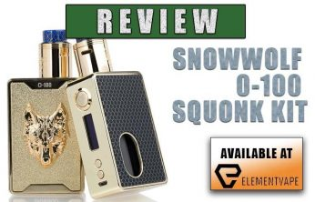 Sigelei SnowWolf O-100 100W Squonk Mod Kit Review