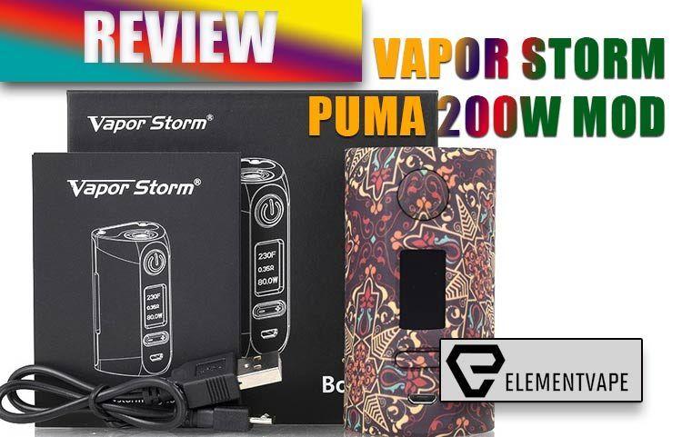 Vapor Storm Puma 200w Mod Review Spinfuel Vape