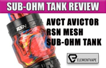 AVCT AVICTOR RSN MESH SUB-OHM TANK REVIEW