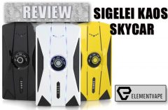 The Sigelei KAOS Skycar 230W TC Box Mod 230W Box Mod Review