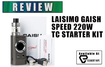 LAISIMO GAISH SPEED 220W TC Kit Review
