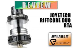 Joyetech RiftCore Duo RTA Review Spinfuel Vape