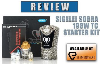 Sigelei SOBRA 198W TC Starter Kit Review