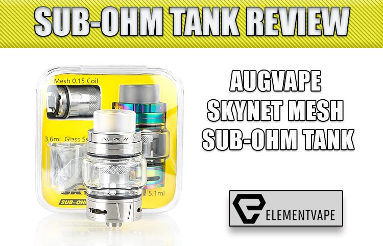 Augvape Skynet Mesh Coil Sub-Ohm Tank Review Spinfuel VAPE