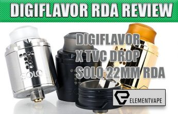 DIGIFLAVOR DROP 24MM RDA BY THE VAPOR CHRONICLES REVIEW Spinfuel VAPE
