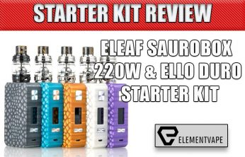 ELEAF SAUROBOX 220W & ELLO DURO KIT Review
