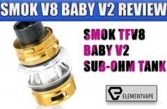SMOK TFV8 BABY V2 SUB-OHM TANK REVIEW by Spinfuel VAPE