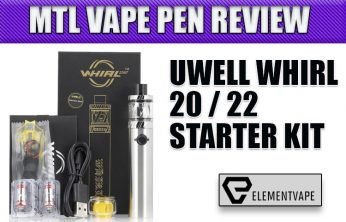 UWELL WHIRL 20 / 22 Vape Pen Starter Kit Review