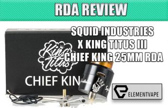 Chief King RDA Review Spinfuel VAPE