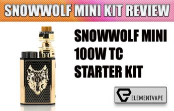 Sigelei SnowWolf Mini 100W Starter Kit Review by Spinfuel VAPE
