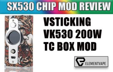 VSTICKING VK530 200W TC BOX MOD Review by Spinfuel VAPE