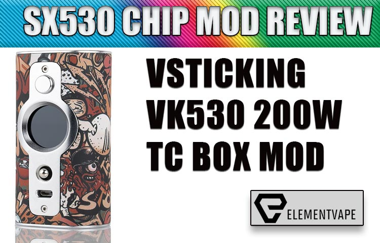 VSTICKING VK530 Vape Mod Review   Spinfuel VAPE