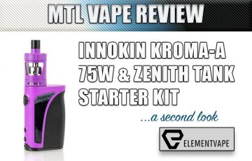 Innokin Kroma-A and Zenith MTL Tank (with Plexus Z Coil) – A Second Look