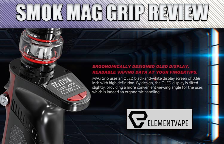 SMOK MAG Grip 100W TC Starter Kit (with the SMOK TFV8 Baby V2 Sub-Ohm) Review by Spinfuel VAPE