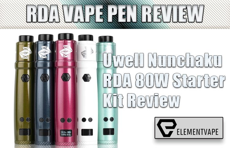 Uwell Nunchaku RDA 80W Starter Kit Review by Spinfuel VAPE