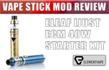 Eleaf iJust ECM Stick Mod Kit Review
