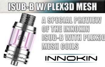 Innokin iSub-B with Plex3D Mesh Coils Tank is Coming Soon