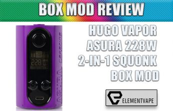 HUGO VAPOR ASURA 228W 2-IN-1 SQUONK BOX MOD