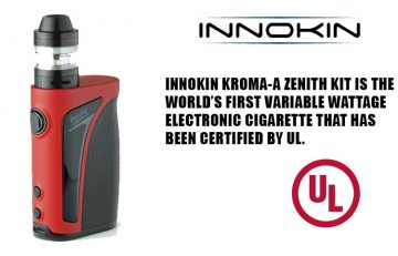 Innokin Kroma-A Zenith kit is the world's first variable wattage electronic cigarette that has been certified by UL.