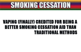 Vaping (finally) credited for being a better smoking cessation aid than traditional methods