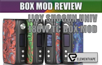 iJoy SHOGUN UNIV 180W TC Box Mod Review