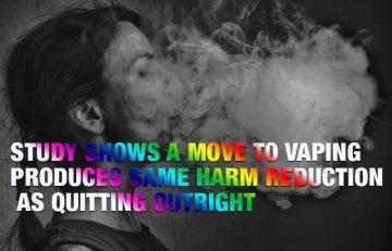 Study Shows a Move to Vaping Produces Same Harm Reduction as Quitting Outright