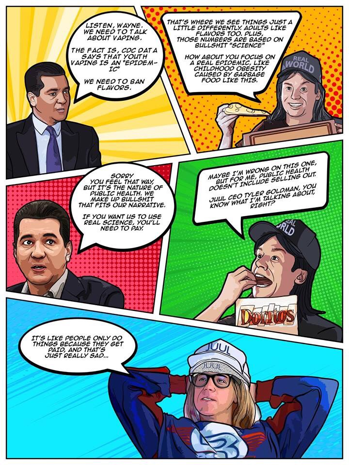 Waynes World Comic Trolls Outgoing FDA Commissioner Over JUUL Comments