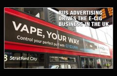 Bus Advertising Drives the e-Cig Business in the UK