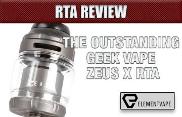 Geek Vape Zeus X RTA Review – Spinfuel VAPE
