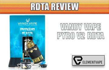 PACKAGE Vandy Vape Pyro V2 RDTA Review