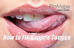 How to Fix Vaper's Tongue